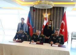 South Caucasus Security Discussed At Tripartite Azerbaijan, Georgia, Turkey Meeting