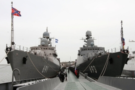 Russia Looks To Deter Outsiders, U.S. From Caspian With Construction Of New Naval Base