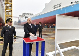 Azerbaijan Launches First Homemade Shipping Vessels