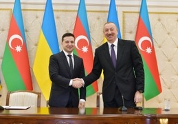 Ukraine's Zelensky Puts Nagorno-Karabakh Conflict At Top Of Agenda During Visit To Baku
