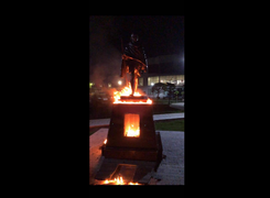 Mahatma Gandhi's Monument in Armenia Set on Fire and Vandalized in Despicable Attack