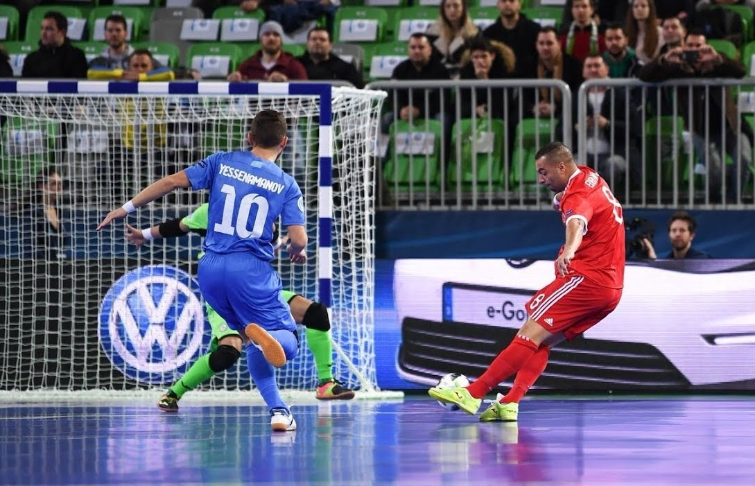 6a6cfe5f85d60 Futsal teams of Russia and Kazakhstan met in a group match that ended in  1-1 draw